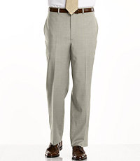 Signature Tropical Weave Tailored Fit Plain Front Trouser- Sizes 44-48