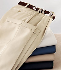 David Leadbetters Pleated Front Performance Golf Pants BigTall $109.50 AT vintagedancer.com