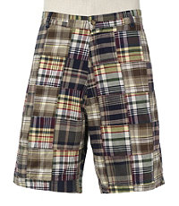 VIP Take It Easy Patchwork Madras Shorts