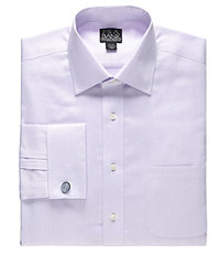 Signature Spread Collar French Cuff Tailored Fit Dress Shirt