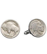 Buffalo Nickle Cufflinks