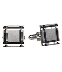 Thick Facet Cut Square Cufflinks