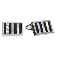 Onyx Mother of Pearl Vertical Stripe Cufflinks