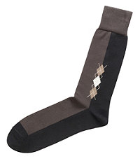 Mini Argyle Mid-Calf Socks