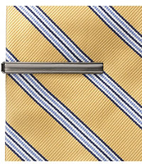Tie Bar- Polished Silver/Brushed Nickel