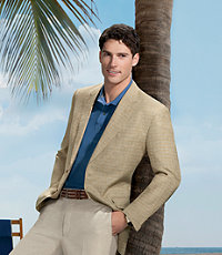 Tropical Blend 2-Button Wool/Linen Sportcoat - Sizes 44 X-Long-52