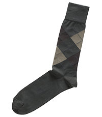 Dress Argyle Mid-Calf Socks