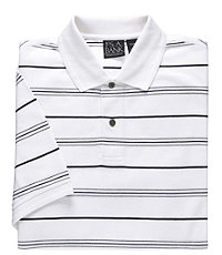 Traveler Stripe Tailored Fit Short Sleeve Pique Polo