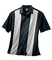 VIP Silk Panel Jacquard Short Sleeve Sportshirt Big/Tall