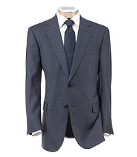 Signature Gold 2-button Plaid Sportcoat