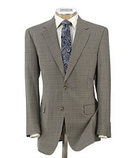 Executive 2-Button Silk/Wool Check Sportcoat