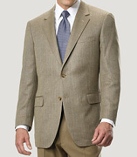 Signature 2-Button Herringbone Regal Fit Sportcoat