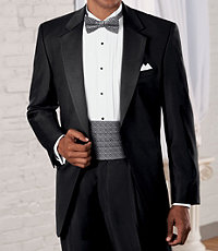 Signature Gold Notch Lapel Tuxedo with Pleated Trousers