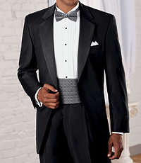 Signature Gold Notch Lapel Tuxedo with Pleated Trousers Extended Sizes