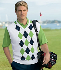 David Leadbetter Argyle Vest Big/Tall