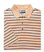David Leadbetter Stays Cool Mutli Stripe Golf Polo