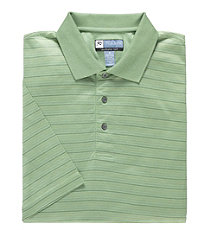 David Leadbetter Stays Cool Dotted Stripe Polo Big/Tall