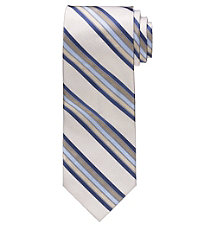 Signature Taupe/Blue Multi Stripe Tie