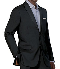 NEW! Joseph Slim Fit 2 Button Plain Front Wool Suit- Black Textured Solid