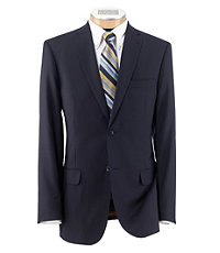 NEW! Joseph Slim Fit 2 Button Plain Front Wool Suit- Navy Textured- Navy Textured