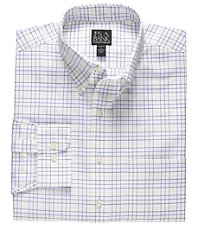 Traveler Long-Sleeve Buttondown Patterned Oxford Sportshirt Big/Tall