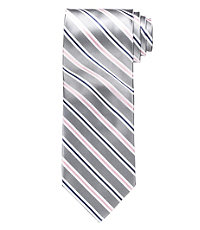 Satin Textured Stripe Tie