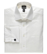 Signature Spread Collar French Cuff Tailored Fit Royal Oxford Dress Shirt