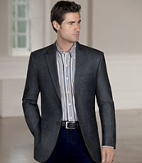 Traveler Wool Tailored Fit 2-Button Sportcoat - Sizes 44 X-Long-52