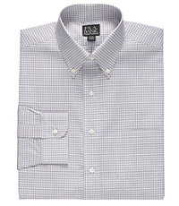 Traveler Mini Plaid Stripe Buttondown Collar Dress Shirt B/T Sizes