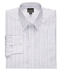 Traveler Wrinkle-Free Patterned Pinpoint Collar Dress Shirt Big and Tall