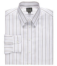 Traveler Point Collar Patterned Big/Tall Dress Shirt