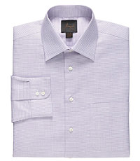 Joseph Spread Collar Cotton White Ground Mini Box Dress Shirt