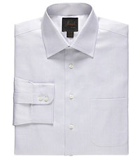 Joseph Spread Collar Cotton Mini Herringbone Dress Shirt