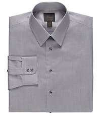 New! Joseph Spread Collar Slim Fit  Twill Microcheck Dress Shirt