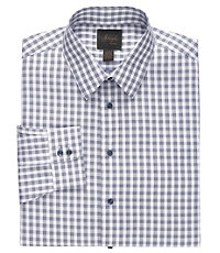 New! Joseph Slim Fit Spread Collar Cotton Large Gingham Dress Shirt