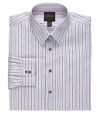 New! Joseph Slim Fit Spread Collar Cotton Twill Dot Stripe Dress Shirt