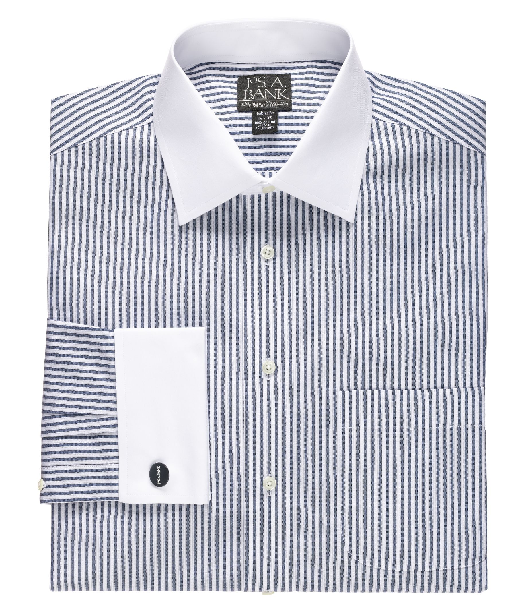 Bold Stripes White Cuff and Collar mens twenties Shirts