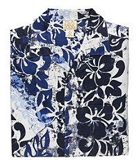VIP Short-Sleeve Silk Print Sportshirt Big/Tall Sizes