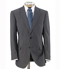 Signature Imperial Wool/Silk Suit with Plain Front Trousers - Sizes 44 X-Long-52