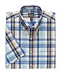 Traveler Short Sleeve Button Down Collar Tailored Fit Sportshirt