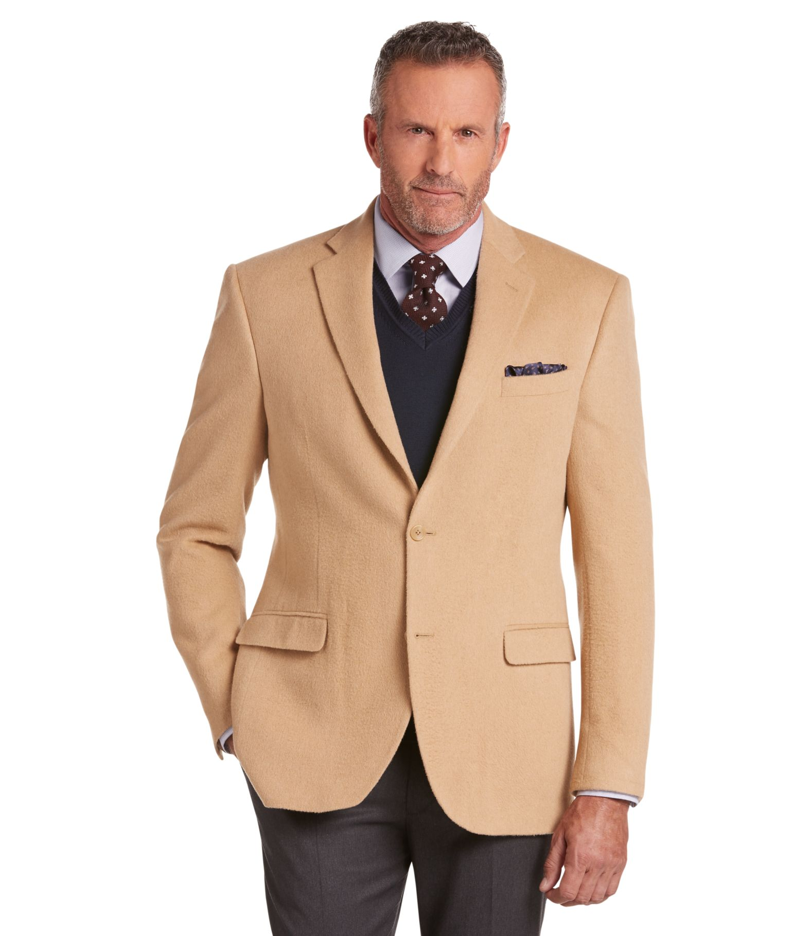 executive collection traditional fit camelhair blazer big tall
