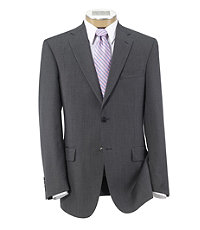 Traveler Tailored Fit 2-Button Suit with Plain Front Trousers Extended Sizes- Cambridge Grey