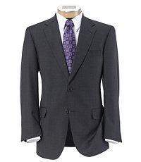 Signature Gold 2-Button Centocinquanta Superfine 150's Wool Suit- Charcoal Plaid