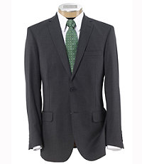 NEW! Joseph Slim Fit 2 Button Plain Front Wool Suit- Medium Grey Stripe