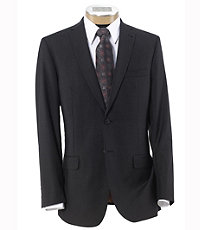 NEW! Joseph Slim Fit 2 Button Plain Front Wool Suit- Grey Checkered