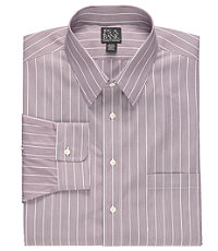 Traveler Patterned Point Collar Dress Shirt Big and Tall