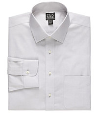 New! Traveler Slim Fit Wrinkle-Free Pinpoint Solid Long-Sleeve Spread Collar Dress Shirt