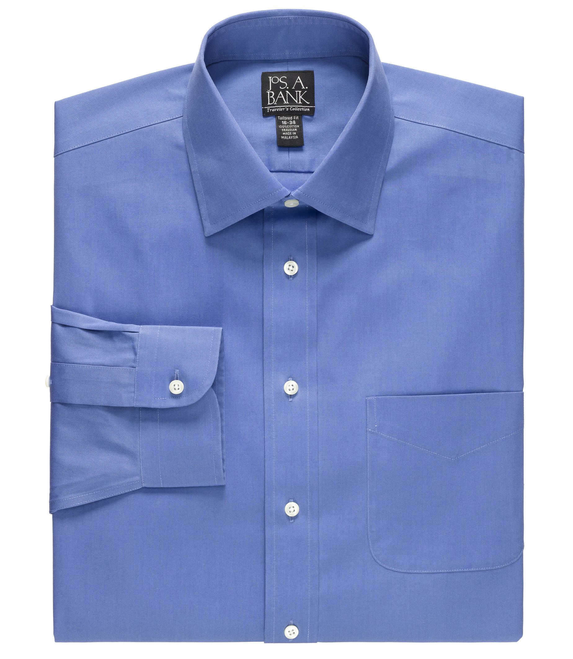 Traveler Collection Slim Fit Spread Collar Dress Shirt