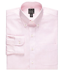 New! Traveler Slim Fit Wrinkle-Free Pinpoint Solid Long-Sleeve Buttondown Dress Shirt