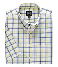 Traveler S/S Buttondown Patterned Poplin Sportshirt
